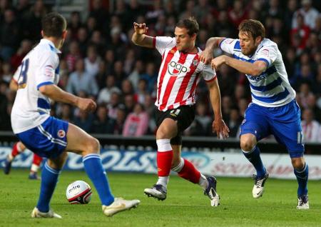 Pictures from the npower Championship clash between Saints and Reading. The unauthorised downloading, editing, distribution or copying of this picture strictly prohibited.