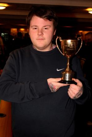 Picture by Kevin Legg: Pool champion James Green.