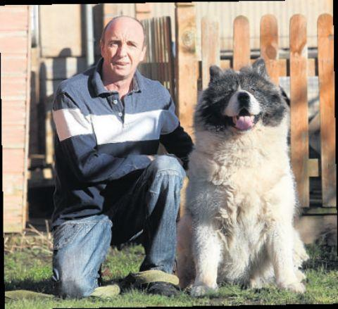 The fate of Samson, pictured with owner Paul Ward, has yet to be decided.