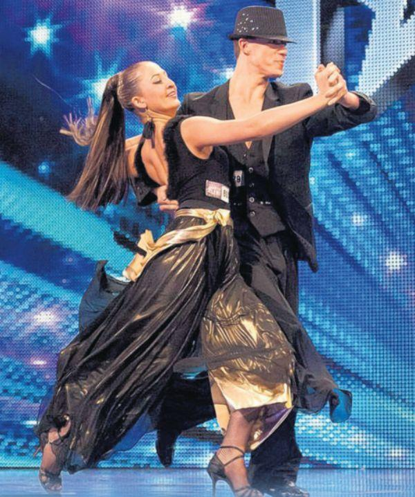 Daily Echo: Kai and dance partner Natalia showing off their Latin American dance.