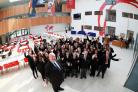 Principal John toland and pupils at Oasis Academy Mayfield