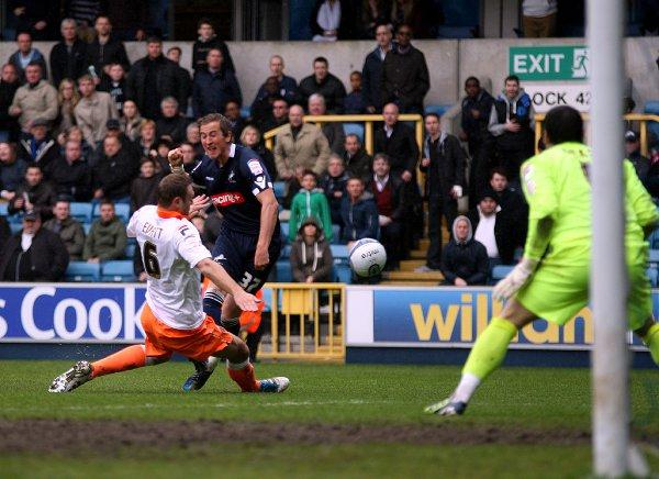 Blackpool defender Ian Evatt in action