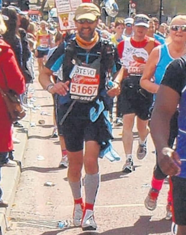 Steve taking part in the London Marathon