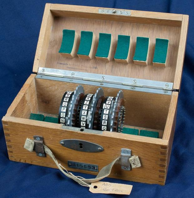 A set of cogs from an Enigma machine found at HMS Collingwood