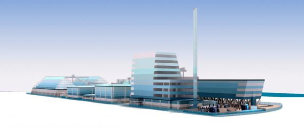 The marine style plan for the Southampton biomass plant
