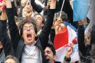 Celebrations in France after Francois Hollande won the presidential election against current premier Nicolas Sarkozy.