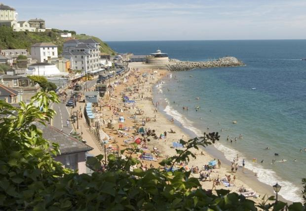 The beach at Ventnor