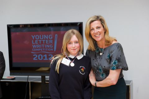 Jessica Tridgell, left, with Sally Gunnell OBE