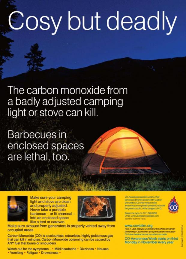 Campers issued with killer barbecue fumes alert