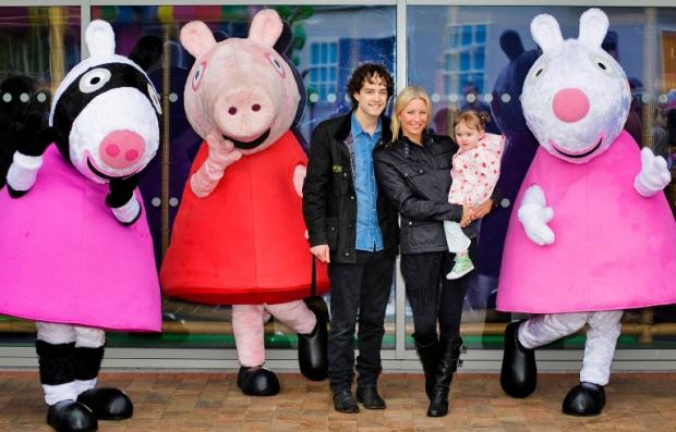 Denise Van Outen and Lee Mead at Peppa Pig World