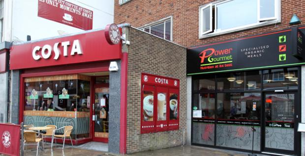 Costa Coffee and Power Gourmet in Southampton High Street