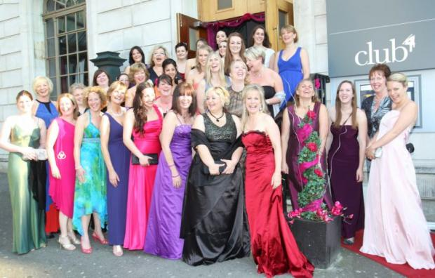 The Venus Awards finalists outside the Grand Cafe in Terminus Terrace.
