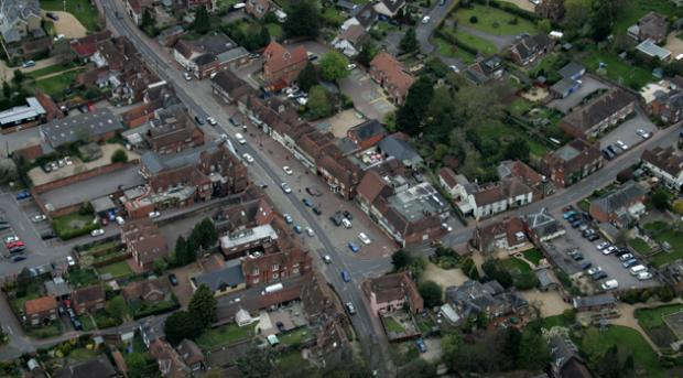 Botley, as seen from the air