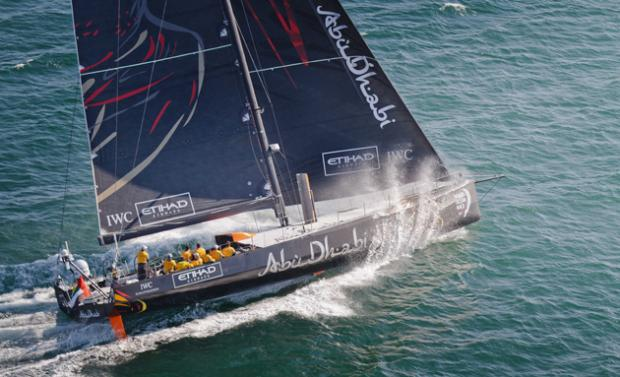 Daily Echo: Azzam has put in a determined display to lead the Volvo Ocean Race Leg 7 to Lisbon
