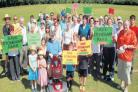 Protesters at Stoneham Park campaign against the proposed development of more than 1,000 homes in the area.