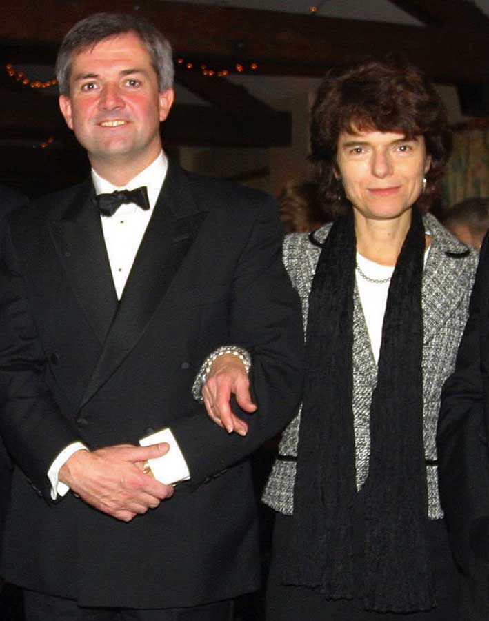 Eastleigh MP Chris Huhne with ex-wi