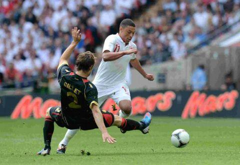 Oxlade-Chamberlain in action for England