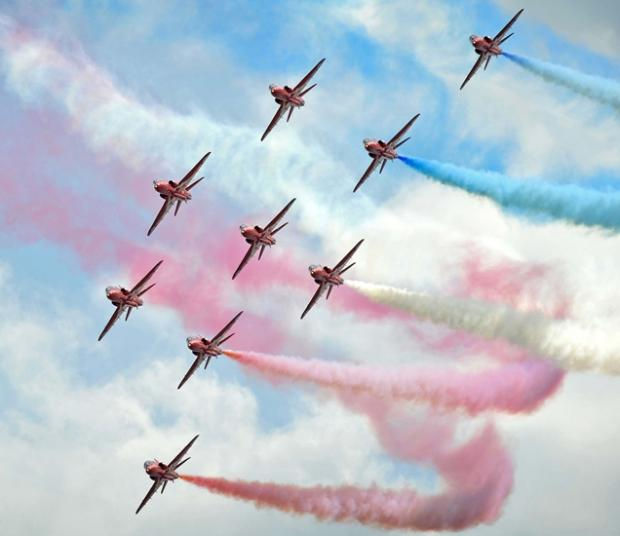 Red Arrows display hangs in the balance