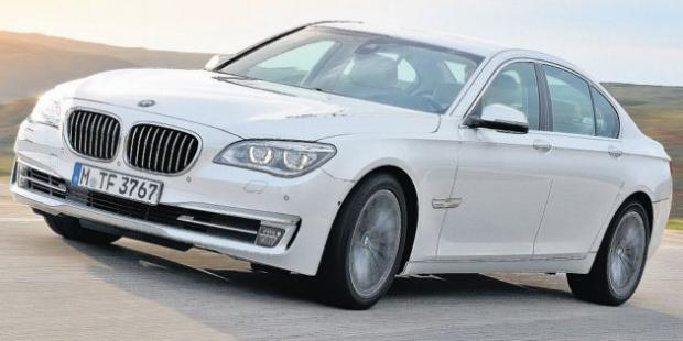 A BMW 7 Series, similar to the one stolen.