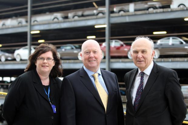 Executive Director of Solent LEP Anne-Marie Mountifield, ABP Port Director Doug Morrison and The Rt Hon Vince Cable.