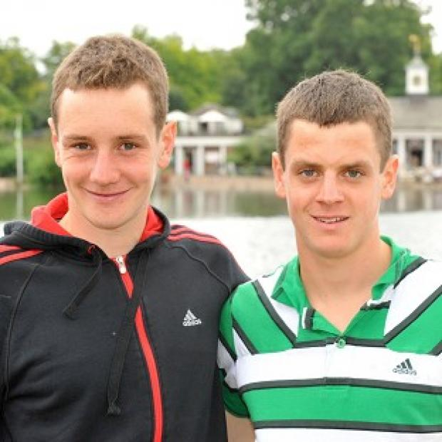 Daily Echo: Alistair (left) and Jonathan Brownlee will both compete at London 2012