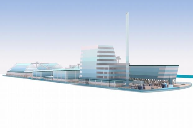 The marine-inspired design for Helius Energy's proposed biomass plant in Southampton