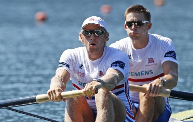 "Silver medallist Andy Hodge, left, says the men's four ""learned a lot"" from their exploits in Munich"