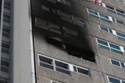Shirley Towers following the fire in 2010
