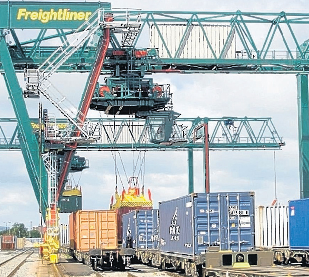 Big cranes to speed port rail containers