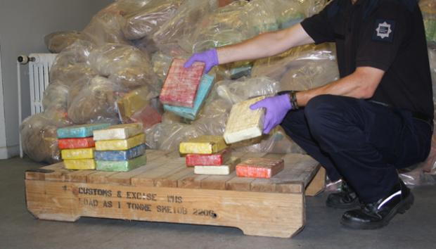Some of the cocaine seized in Southampton