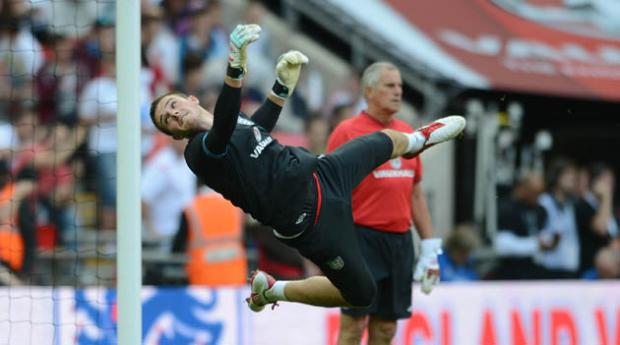 Jack Butland on England duty