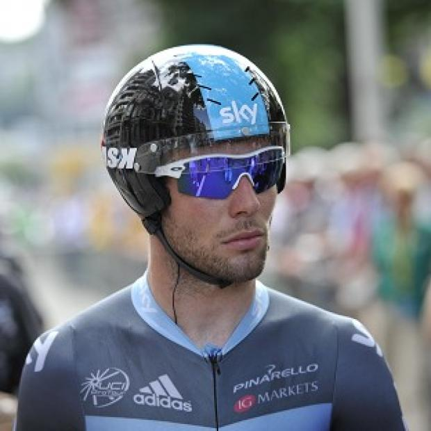 Mark Cavendish was the second member of the peloton over the line in the intermediate sprint