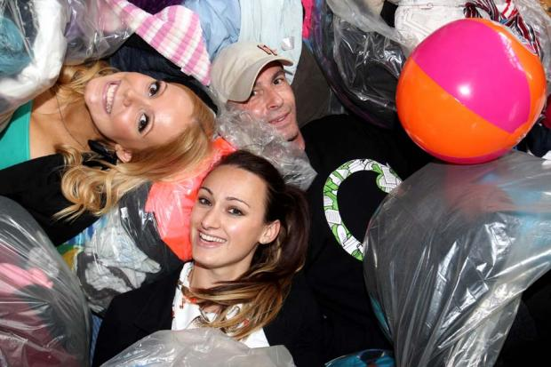 Students among some of the recycling recovered by Eco Ernie
