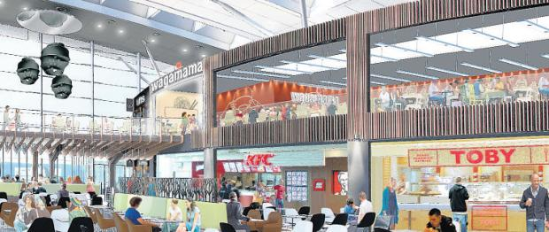 How the WestQuay Food Terrace will look following the work