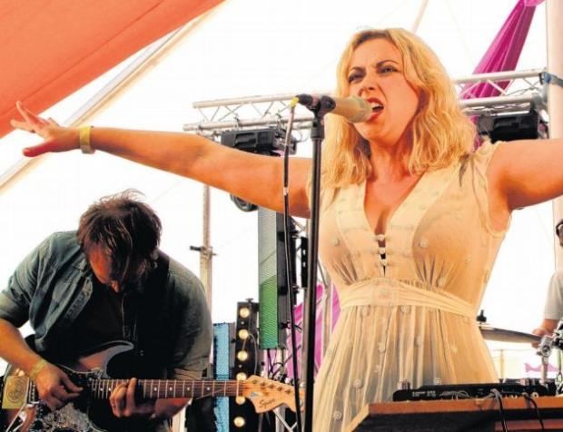 Charlotte Church on stage