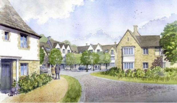 An artist's impression of how the care village would look.