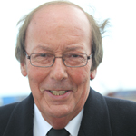 Daily Echo: Fred Dinenage during the Titanic commemorations in Southampton.
