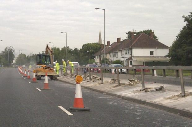 The work on Millbrook Road West