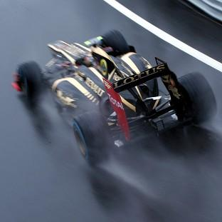 Roman Grosjean topped the timesheet at Silverstone
