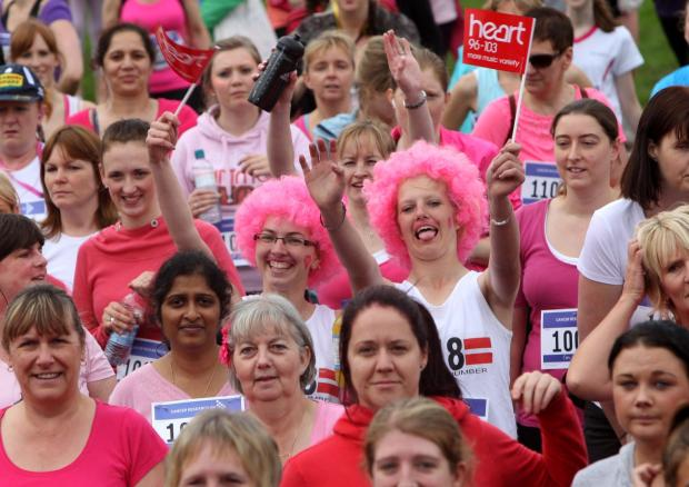 Women take part in the Race for Life on Southampton Common