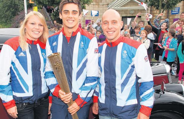 Olympic divers Stacie Powell, Chris Mears and Pete Waterfield at The Quays.