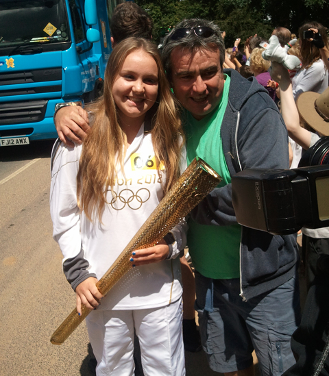 Daily Echo: This is the Maisie Rafferty, one of the torch bearers in Winchester. The 17-year-old comes from Portsmouth.