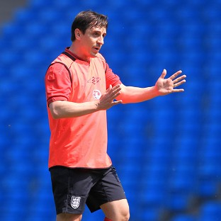 Gary Neville joined the England coaching set-up ahead of Euro 2012