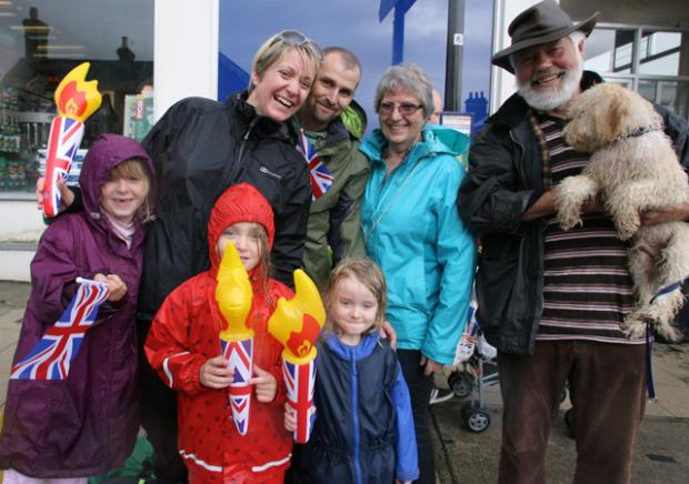 Lymington embraces Olympic spirit in the rain