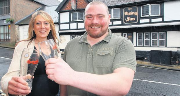 New owners Nicola Ramshaw and Alex Bell at the Rising Sun in Winchester