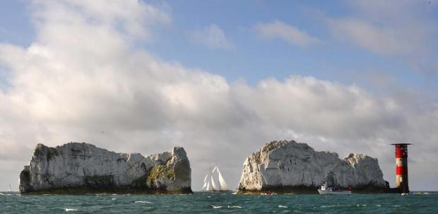 The Needles, Isle of Wight close to where the incident happened.