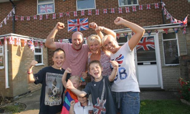 The family of diver Pete Waterfield, left, are backing him for Games glory. Lewis Waterfield, Mark Brewer, Debbie Brewer and Tania Waterfield with (front) Libby Sharp, Marshall Waterfield and Jack Sharp