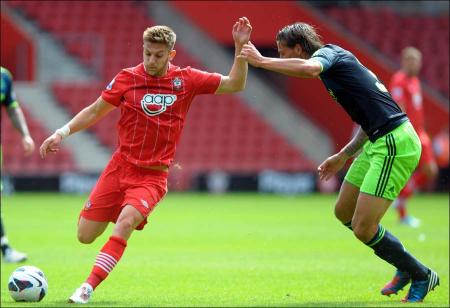 Pictures from Saints friendly against Ajax at St Mary's Stadium.