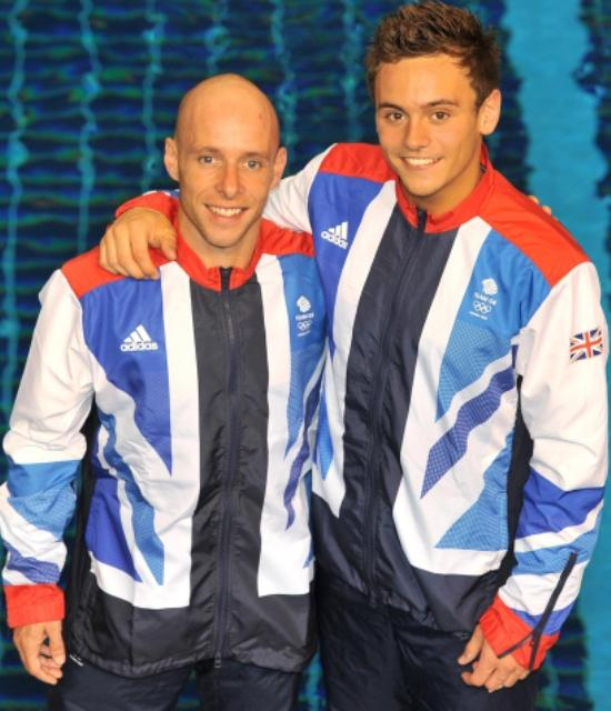 Tom Daley, right, with diving partner Pete Waterfield