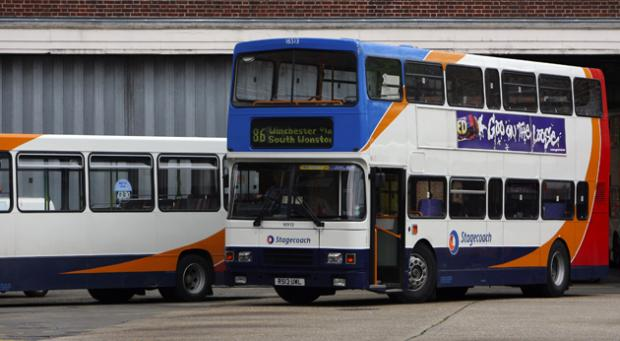Stagecoach buses at Winchester bus station